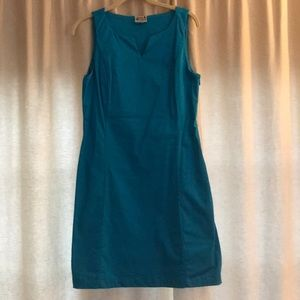 Dresses & Skirts - Aqua Blue sleeveless dress. Side zip
